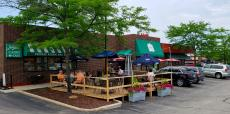 Enjoying the outdoor patio at Johnny's Kitchen & Tap in Glenview