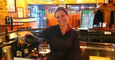 Friendly bar server at Johnny's Kitchen & Tap in Glenview