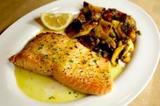 Greek Style Salmon at Kefi Greek Cuisine in Palos Heights