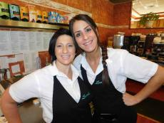 Friendly servers at Lumes Pancake House in Orland Park