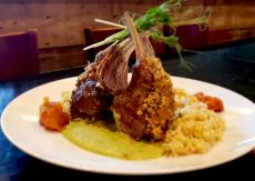 The Pistachio Crusted Lamb Rack at M Supper Club in Crystal Lake