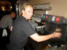 Friendly server at Maxfield's Pancake House in Schaumburg