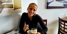Friendly staff taking a break at Naxos, A Greek Island Restaurant Itasca