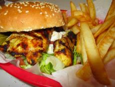 The grilled chicken sandwich at Nick's Drive-In Restaurant in Chicago
