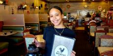 Friendly server at Niko's Breakfast Club in Romeoville