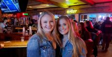 Happy customers at Niko's Red Mill Tavern in Woodstock