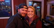 Couple enjoying dinner at Niko's Red Mill Tavern in Woodstock