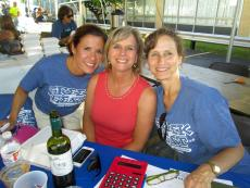 Friendly volunteers at the Oak Lawn Greek Fest at St. Nicholas