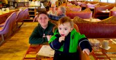 Family enjoying lunch at Oak Lawn Restaurant in Oak Lawn