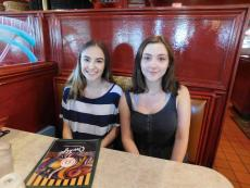 Friends enjoying lunch at Omega Restaurant & Pancake House in Downers Grove