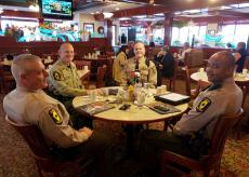 State Police enjoying lunch at Omega Restaurant & Pancake House in Downers Grove