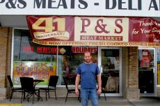 Friendly staff celebrating 41st anniversary at P and S meats in Chicago