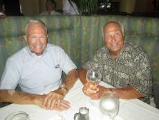 Brothers enjoying lunch at Palm Court in Arlington Heights