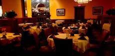 The Fireplace Room at Palm Court Restaurant in Arlington Heights
