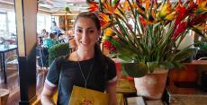 Happy customer at Papagalino Cafe & Pastry Shop in Niles