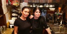 Friendly servers at Papagalino Cafe & Pastry Shop in Niles