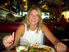 Customer enjoying dinner at Pilot Pete's Restaurant in Schaumburg