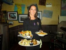 Friendly server at Pilot Pete's Restaurant in Schaumburg