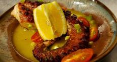 Grilled octopus at Plateia Mediterranean Kitchen & Bar in Des Plaines