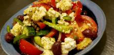 The famous Village Salad at Plateia Mediterranean Kitchen & Bar in Des Plaines