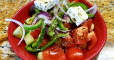 The Greek Salad at QP Greek Food With a Kick in Hoffman Estates