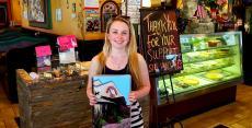 Happy carryout customer at Rose Garden Cafe in Elk Grove Village