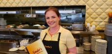 Friendly server at Sander's Family Restaurant & Pancake House in Skokie