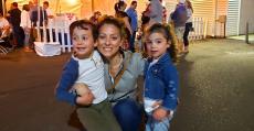 Family enjoying the St. Demetrios Greek Fest in Elmhurst