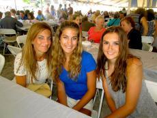 Friends enjoying the St. Demetrios Greek Fest in Libertyville