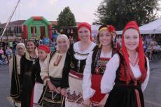 Agape dance troupe members at St. Sophia Greek Fest in Elgin