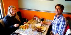 Couple enjoying lunch at Teddy's Diner in Elk Grove Village