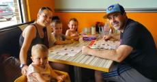 Family enjoying lunch at Teddy's Diner in Elk Grove Village