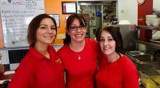Friendly staff at Teddy's Diner in Elk Grove Village