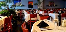 Spacious dining area at Thassos Greek Restaurant in Palos Hills