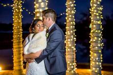 Newlyweds celebrating at The Odyssey Country Club in Tinley Park