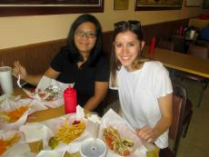 Friends enjoying the award winning Gyros at The Works in Glenview