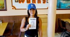 Loyal carryout customer at The Works Gyros in Glenview