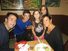 Family enjoying a summer lunch at The Works in Glenview