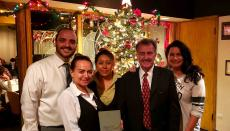 Merry Christmas from Tom's Steak House in Melrose Park