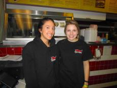 Friendly staff at Twins Gyros in Harwood Heights