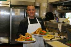 Executive chef Luis with delicious creations at Union Ale House in Prospect Heights