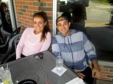 Couple enjoying the outdoor patio at Xando Cafe in Hickory Hills